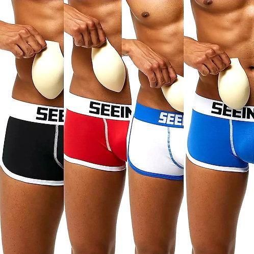 Pack 4 boxer con relleno completo