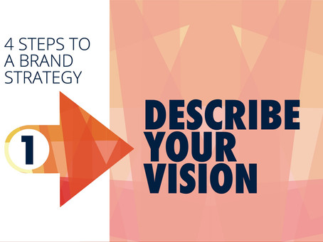 BUILDING A BRAND STRATEGY STEP 1: DESCRIBE YOUR VISION.