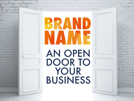 Brand name - an open door to your business.