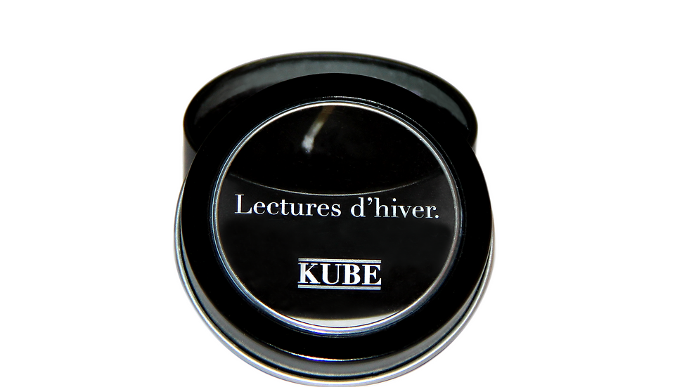 "La bougie ""Lectures d'hiver"" Kube"