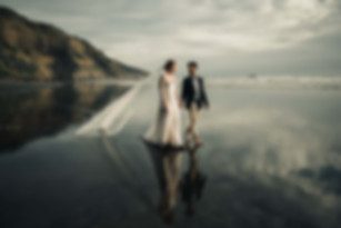 beach wedding in Auckland New Zealand by Auckland wedding photographer in Auckland