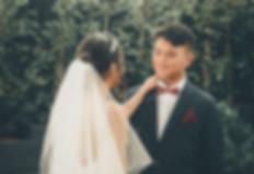 first look wedding photos La Rosa weddings