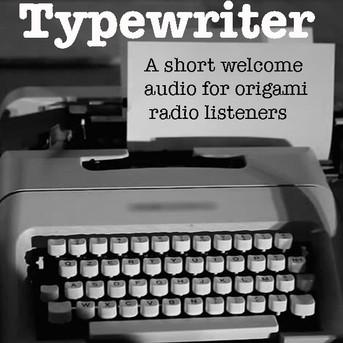 Typewriter: Welcome audio