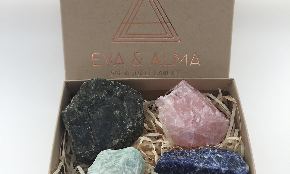 'LOVE & HAPPINESS' Crystal Sacred Self Care Kit