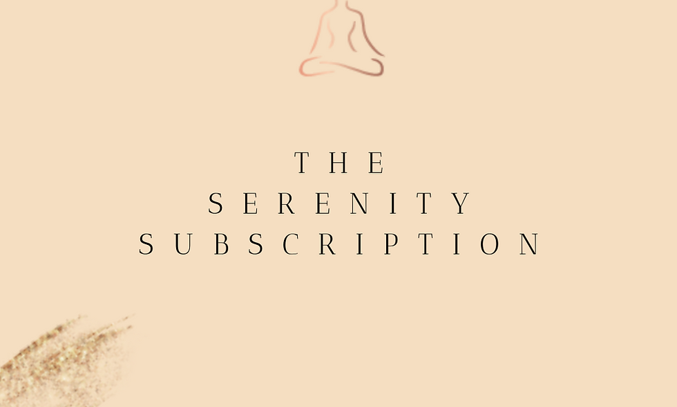 'Serenity Subscription' Gift Voucher