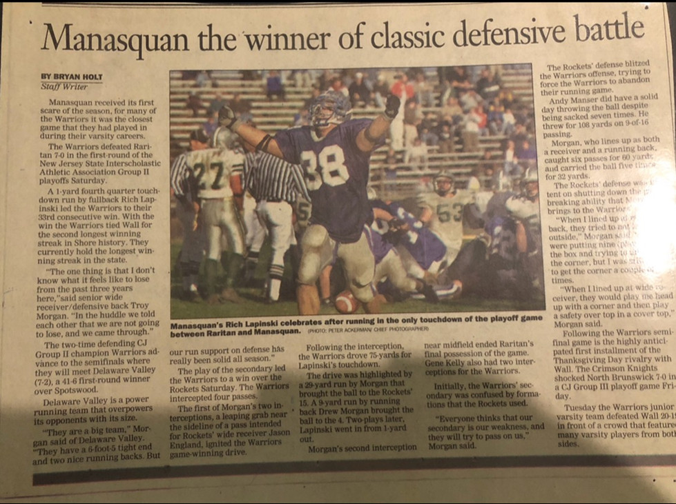 Manasquan the winner of classic defensive battle