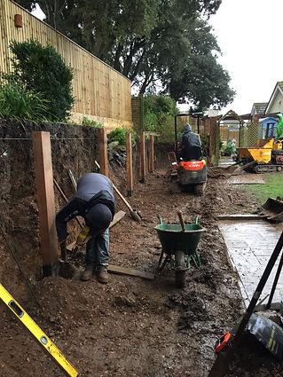 Garden digger works