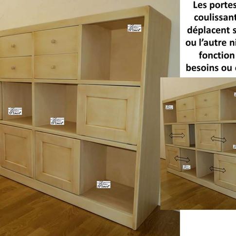 Composition niches, portes, tiroirs