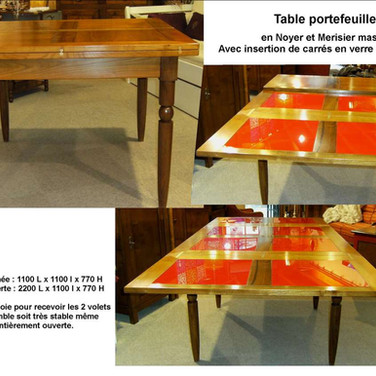 Table portefeuille