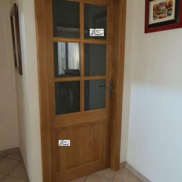 Porte vitrée chêne