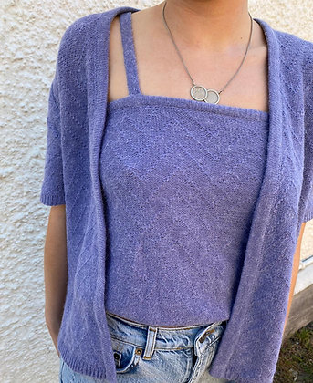 matching top and cardigan in lilac