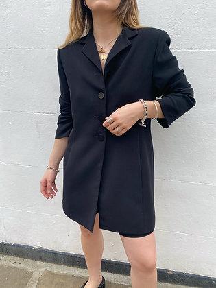 blazer dress in black with pockets