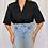 Thumbnail: black shirt with shoulder pads