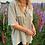 Thumbnail: oversized crepe shirt in sage