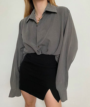 oversized shirt with tiny dog tooth print