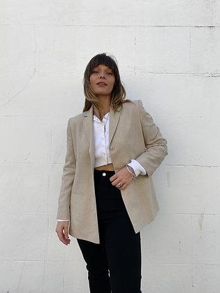 fitted blazer in beige