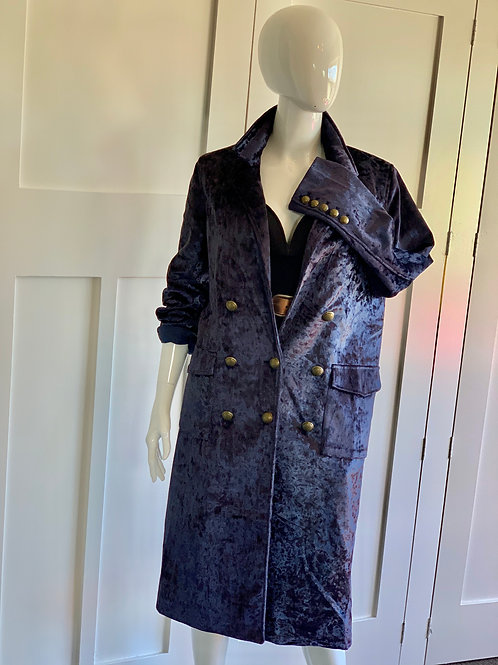 AS NEW**FATE VELVET CRUSH PIRATE COAT    SIZE M
