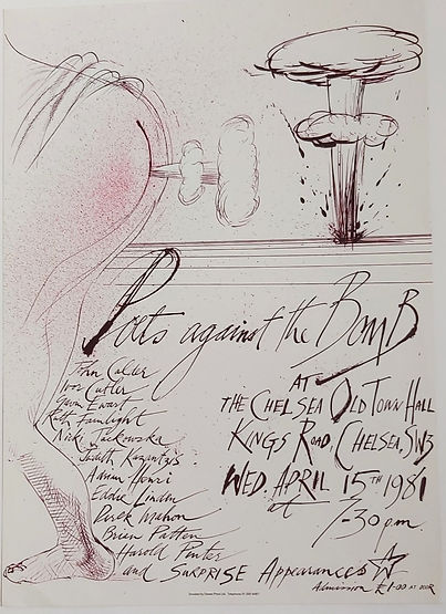 Ralph Steadman Poets Against the Bomb Event Poster