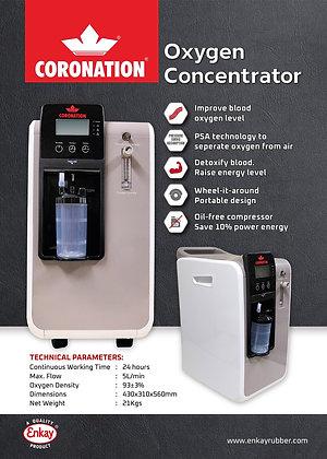Coronation Oxygen Concentrator 5LPM