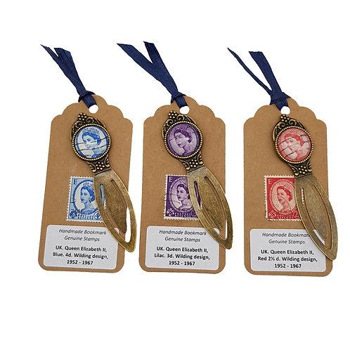 British Wilding QEII Stamp Bookmarks – set of 3