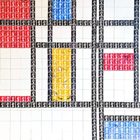 Stamp Art, Mondrian Style