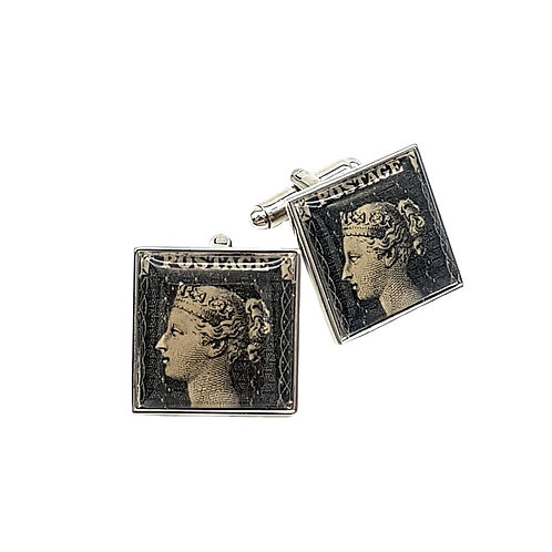 """Penny Black"" Cufflinks – Philympia 1970"