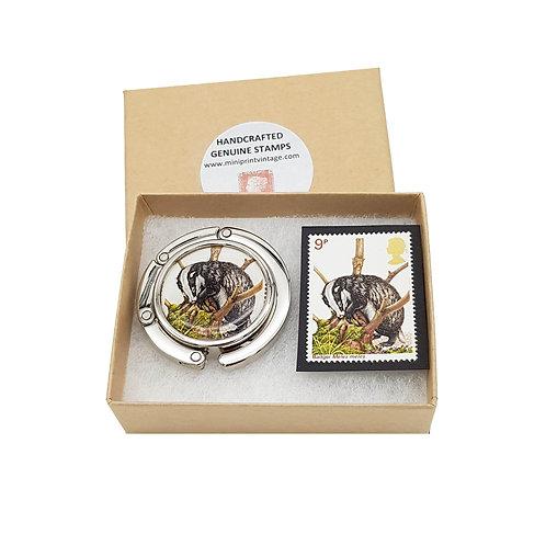 Badger, British Wildlife Series 1977 Stamp Handbag Hook