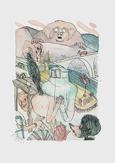 Original drawing / Résidence SF15 / Antonin Guillot