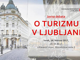 Javna debata o turizmu v Ljubljani – Kavarna Union