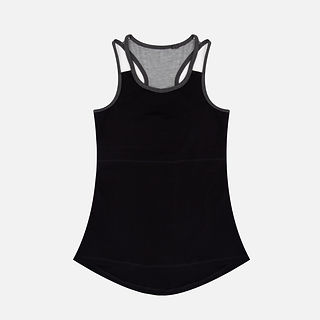 Wholesales Stretch Bamboo Women Active Slip Tank Top for Yoga Wear .jpg