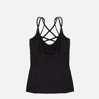 Women Bamboo Yoga Vest Fitness Tank Top with Double Stripe on Shoulder .jpg
