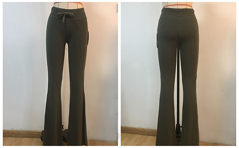 Women Long Yoga Fitted Flare