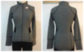 Heather Charcoal Support Yoga Jacket