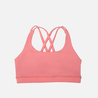 New Design Women Fitness Sports Wear of Bamboo Yoga Bra With Stretch Back Cross Stripes .jpg