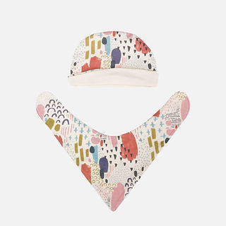 organic cotton baby hat and bibs.jpg