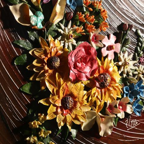 Floral Decor Clay