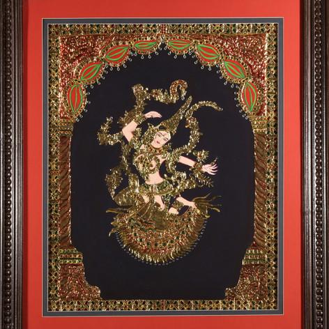 Tanjore Painting: The Dancing Sita