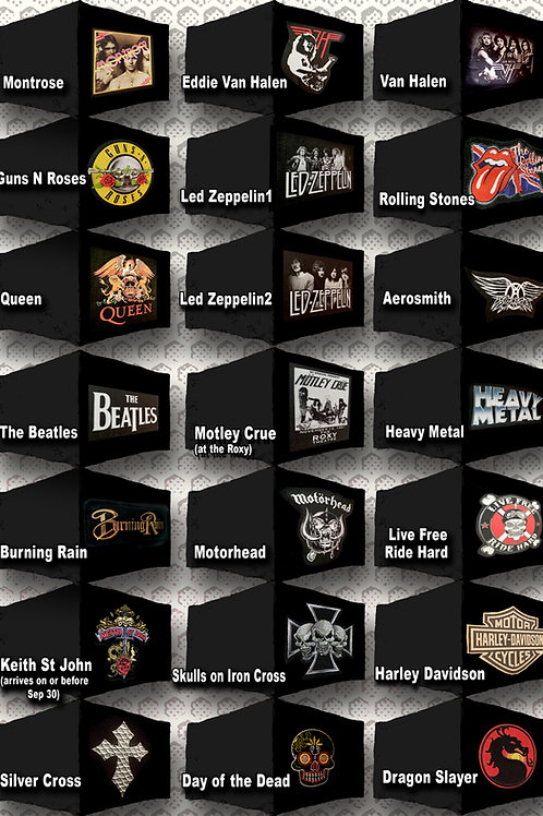 ROCK BANDS & ROCK FASHION CUSTOM SINGLES