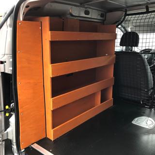 Habillage bois + casier gauche