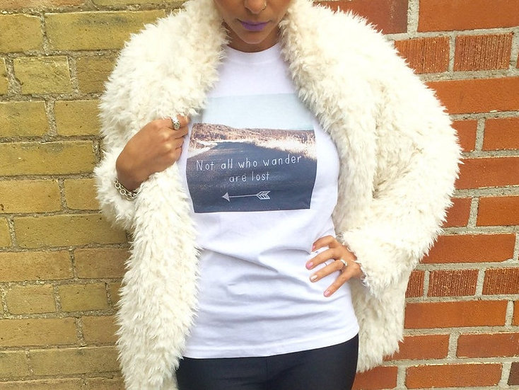 """""""Not All Who Wander Are Lost"""" Women's T-Shirt"""