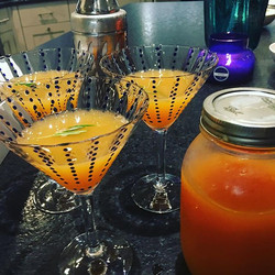 Finished product for last nights juice girl Martinis
