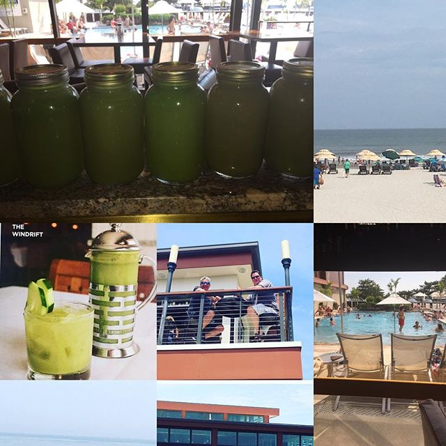 Freshly made green detox juice and martinis (Kale, cucumber,ginger, lemon, apple) are available at t