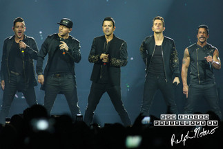 New Kids On The Block perform at Hard Rock Live during the final show of the Total Package Tour