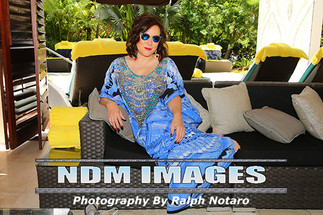 Jennifer Tilly relaxes in the Man Cave at the Seminole Hard Rock Hotel & Casino