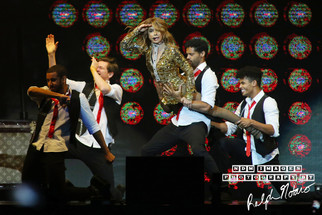 Paula Abdul performs at Hard Rock Live during the final show of the Total Package Tour with New Kids