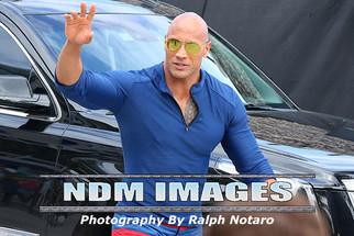 "Dwayne ""The Rock"" Johnson on the movie set of ""BayWatch"" in Deerfield Beach"