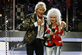 Rod Stewart and Cyndi Lauper perform at Hard Rock Event Center