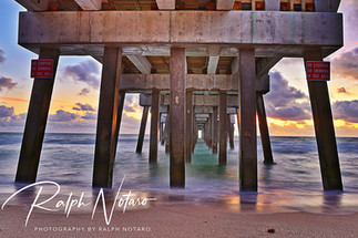 Sunrise at Pompano Pier