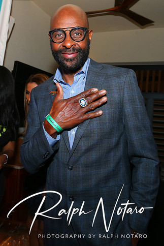 Jerry Rice attends the Culinary Cookoff at DAER Nightclub at Seminole Hard Rock Hotel & Casino,