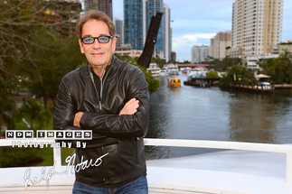 Huey Lewis on the Seminole Hard Rock Winterfest Boat Parade Grand Marshal Boat